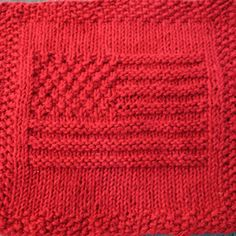 American Flag Knit Dishcloth Pattern - Designs by Emily