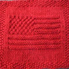 American Flag Knit Dishcloth Pattern - Designs by Emily
