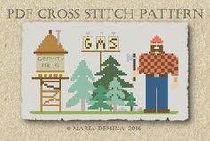 Gravity Falls Opening Titles PDF cross stitch chart / pattern от LittleRoomInTheAttic