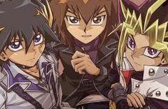 Yugi, Jaden, and Yusei