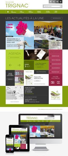 Création du site Internet de la ville de Trignac (44) : #Web #Webdesign #Responsive #Mairie #Ville #Public :  www.mairie-trignac.fr by @creasit