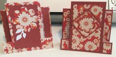 Center - Step cards created by Brenda Kline using the Silhouette Cameo machine and DCWV Autumn Splendor Paper and a flower paper punch  Brenda has LOTS of cards boards - check them out on Pinterest!