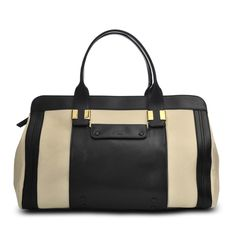 Alice large two-tone leather bag by Chloe