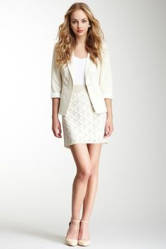 Light beige lace pencil skirt - very sweet looking for spring