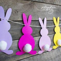 Owl Crafts, Bunny Crafts, Decor Crafts, Diy And Crafts, Easter Crafts For Kids, Thanksgiving Crafts, Toddler Crafts, Diy For Kids, Easter Garland