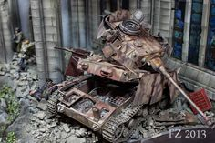 FZMw Military Miniatures: Panzer IV Ausf J wreck need a place