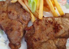 Vörösboros mustárba pácolt sértés tarja | Babai János receptje - Cookpad receptek Steak, Budapest, Food, Essen, Steaks, Meals, Yemek, Eten