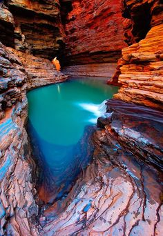 Inner Sanctum - Karijini National Park, Western Australia - inspiration for scenic painting Places Around The World, Oh The Places You'll Go, Places To Travel, Places To Visit, Around The Worlds, Western Australia, Australia Travel, Queensland Australia, Belle Image Nature