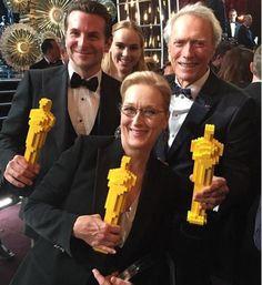 Bradley Cooper, Meryl Streep & Clint Eastwood - 2015 Oscars