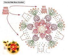 ✼✼  Flor em  Crochê -  /  Flower Crochet - ✼✼