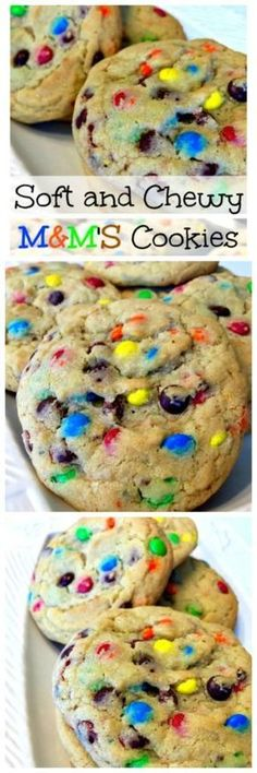 Our Soft and Chewy MMS Cookies have a buttery cookie dough, thats loaded with bright colored mini MMS candies, making them a super delicious cookie! Cookie Desserts, Just Desserts, Cookie Recipes, Delicious Desserts, Dessert Recipes, Yummy Food, Chocolate Desserts, Chocolate Candies, Mini Desserts