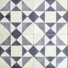 Encaustic Tiles in Exeter - La Fabrico Tile Showroom Exeter Devon Porch Flooring Tiles, Hallway Flooring, Hall Tiles, Tiled Hallway, Interior Decorating Tips, Family Room Decorating, Black And White Tiles, Black White, Patchwork Tiles