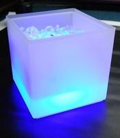 Use LED ice bucket as a planter for snow covered trees/branches. Voodoo Halloween, Frozen Halloween, Halloween Door, Glow Run, Wine Cask, Ice Cooler, Snow Covered Trees, Flower Cart, Vendor Events