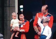 Queen Elisabeth with Prince Phillip, prince Andrew and little prince Edward. Elizabeth Philip, Queen Elizabeth Ii, Prince Andrew, Prince Edward, Duke And Duchess, Duchess Of Cambridge, Prinz Philip, Young Prince, Queen Of England