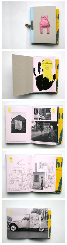 Specialy made booklet for The opening of our new building in 2010, by Studio Boot