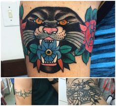 Vintage Panther cover up by Jessica O, Lado Clássico Tattoo, Blumenau, Brazil