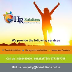 Helping Individuals to Advance their Career and Companies to grow their Businesses. http://hr-solutions.net.in/