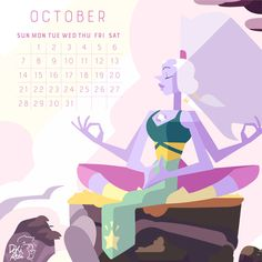 2018 Calendar  the birthstone of October: Opal! Oct facts: Oct 5th is the lovable Peridot Shelby Rabara's bday! following that, on Oct 10th is Grace Rolek turn to celebrate and on 23rd is Zach...