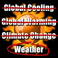 Global Cooling / NOPE - Global Warming / NOPE - Climate Change / NOPE - WEATHER / That's it :-) #Truth