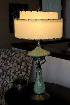 Mid Century Modern Lamp with Fiberglass Shade by concealedjewel Mid Century Modern Lighting, Mid Century Modern Decor, Midcentury Modern, Mid Century Style, Mid Century Design, Cool Lamps, Funky Lamps, Retro Lamp, I Love Lamp