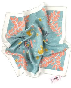 Silkscarf * COFFEE * ceyladon/orange Hijabs, Diy Fashion Videos, Fashion Prints, Fashion Design, Scarf Design, How To Wear Scarves, Textiles, Cool Fabric, Scarf Hairstyles