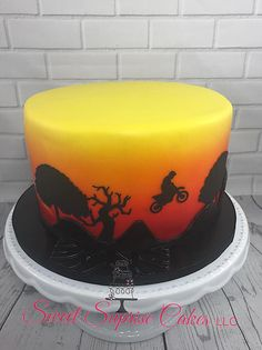 We specialize in Custom Cakes and Cupcakes in the Clearwater, FL area of Tampabay. Sweet Suprise Cakes, LLC can make your vision come to life and make your cake the centerpiece of the party! The next cake could be yours! Cool Birthday Cakes, 30th Birthday, Dirt Bike Cakes, Harley Davidson Cake, Cake Gallery, Custom Cakes, Cake Designs, Cupcake Cakes, Creativity