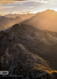Warm Lights Over the Dolomites by mattiadattaro  alps d750 dolomites dolomiti italia italy lagazuoi landscape lights mountain mountains nikon nikon d