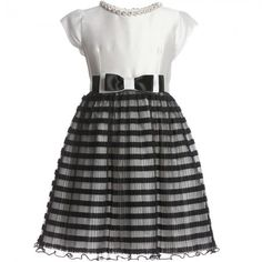 Lesy - Tulle Monochrome Silk Dress | Childrensalon