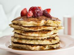 Pancake Recipes: Fluffy Pancakes with Strawberries