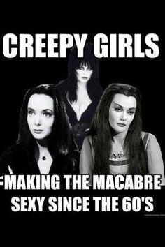 They make horror glamorous