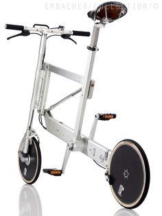 "ELETTROMONTAGGI Zoom Bike 1995, GER Rahmenmaterial: Aluminium Schaltung: 3 Bremsen: Felge Seitenzug / Felge Seitenzug Reifen: 14"" Drahtreifen / 14"" Drahtreifen Gewicht: 10,30 kg"