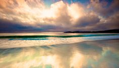 (See T-Shirt Pin) #CAsSurf | Carmel California, Sunset just passed and the sky was still bright enough to capture the reflections off the sand.