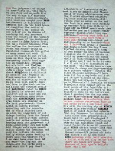 """William S. Burroughs  """"Long Lost Cut-Up""""  Manuscript of cut-up sent to Charles Plymell for use in NOW NOW NOW."""