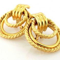 Elegant pair of earrings, that will give you a stunning look. Measures 2 x 14k Earrings, Elegant, Jewelry, Dapper Gentleman, Jewellery Making, Jewelery, Jewlery, Jewels, Jewerly