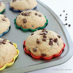 table for seven: Chocolate Chip Cookie Muffins