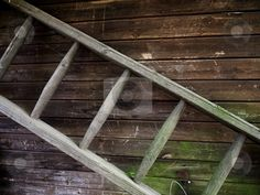 Old and primitive ladder
