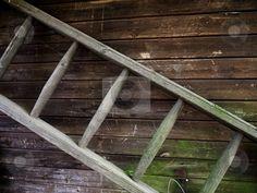 Old and primitive ladder