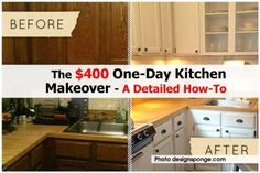 The $400 One-Day Kitchen Makeover - A Detailed How-To