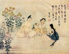 삼추가연,   신윤복    세 명이 가을에 맺은 아름다운 인연
