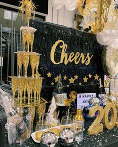 Image may contain: text New Years Eve Party Ideas Decorations, New Year's Eve Party Themes, Great Gatsby Party Decorations, Great Gatsby Themed Party, Surprise Party Decorations, Great Gatsby Prom, Champagne Birthday, Champagne Party, Champagne Tower