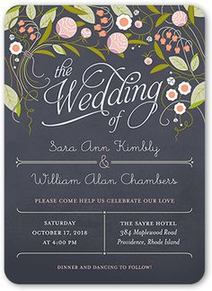 Forever Love Wedding Invitation, Rounded Corners, Gray
