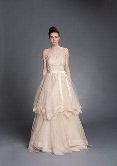 LOVE the skirt  Elizabeth Stuart's Fall Collection - Rosyln Gown   onefabday.com #wedding