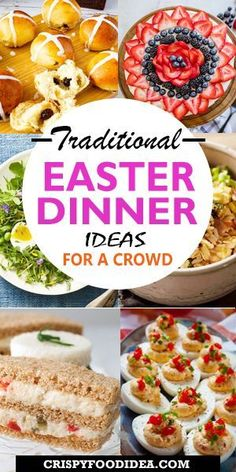 Looking for amazing Easter Dinner Ideas? Here you'll find some delicious few traditional easy easter dinner sides recipes and meat menu ideas that perfect for celebrate with your family on sunday or any parties or any occasions and for a crowd! #easter #easterdinnerideas #dinner #dinnerrecipes #recipes #holiday #sidedish #partyfood #easyrecipes #spring #food