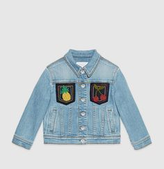 Gucci - children's denim jacket with patches 413777XR1284263