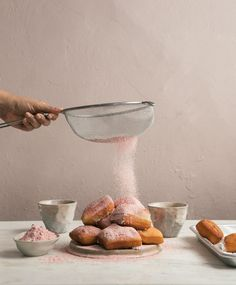 Overnight Beignets with Strawberry Powdered Sugar are magical pillows of fried dough tossed with flavored powdered sugar. This dough is super simple! Freeze Dried Strawberries, Strawberries And Cream, Dried Fruit, Crinkle Cookies, Cookies And Cream, Beignets, Beignet Recipe, Soda Bread, Cozy Kitchen