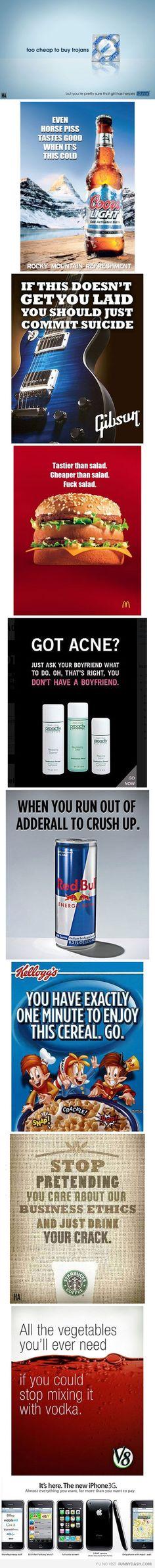 If Advertisements Were Honest