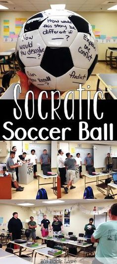 A fun English Language Arts game and active way to do Socratic Seminars Socratic Soccer Ball! A fun English Language Arts game and active way to do Socratic Seminars Middle School Classroom, Middle School Reading, Ela Classroom, English Classroom Activities, English Teacher Classroom, Literacy Games Middle School, Year 3 Classroom Ideas, High School Activities, Interactive Activities