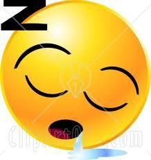 Sleepy, drooling Smiley Face