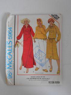 Vintage 70s Hoodie Dress or Top Pattern McCalls by lisaanne1960