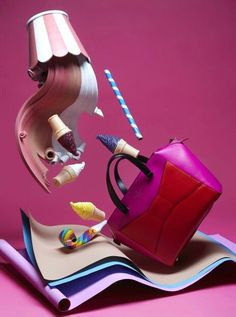 My styling for Kate Spade Accessories in Dichan magazine Thailand still life photography